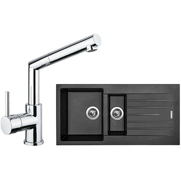 SINKS PERFECTO 1000.1 Metalblack + MIX 350 P lesklá