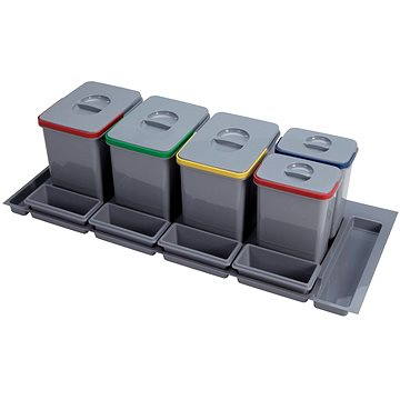 Odpadkový koš Sinks PRACTIKO 1200 3x15l+2x7l+4xmiska (8596142009275)