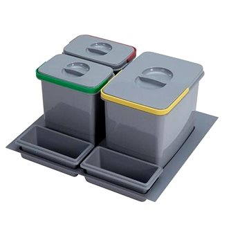 Odpadkový koš Sinks PRACTIKO 600 1x12l+2x5l+2xmiska (8596142009503)