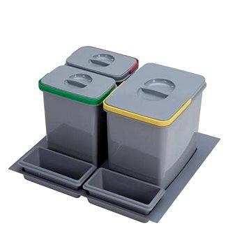 Odpadkový koš Sinks PRACTIKO 600 1x15l+2x7l+2xmiska (8596142009510)