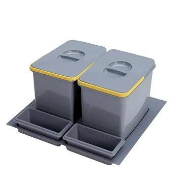 Odpadkový koš Sinks PRACTIKO 600 2x12 l + 2x miska (8596142009527)