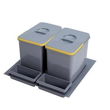 Odpadkový koš Sinks PRACTIKO 600 2x15 l + 2x miska (8596142009534)