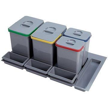 Odpadkový koš Sinks PRACTIKO 900 2x12l+2x5l+3x miska (8596142009541)
