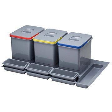 Odpadkový koš Sinks PRACTIKO 900 3x12 l + 3x miska (8596142009565)