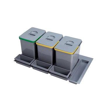 Odpadkový koš Sinks PRACTIKO 900 3x15 l + 3x miska (8596142009572)