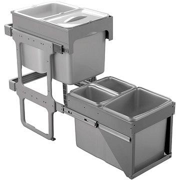 Odpadkový koš Sinks TANDEM FRONT 40 AU 2x8l + 3x16l (8596142009725)