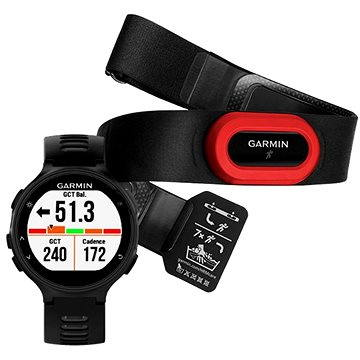 Sporttester Garmin Forerunner 735XT, Black & Gray Run Bundle (010-01614-15)