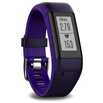 Fitness náramek Garmin vívosmart HR + GPS, Purple (010-01955-43)