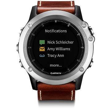 Chytré hodinky Garmin Fenix 3 Sapphire Silver Leather Performer Bundle (8588006380682)