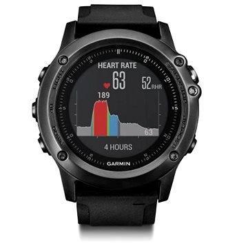 Chytré hodinky Garmin Fenix 3 Sapphire HR Gray (010-01338-71)