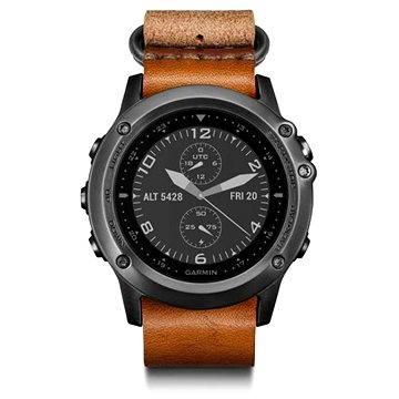 Chytré hodinky Garmin Fenix 3 Sapphire Gray Leather (010-01338-81)