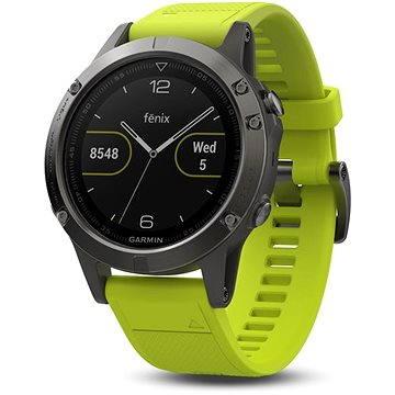 Chytré hodinky Garmin Fenix 5 Grey, Yellow band (010-01688-02)