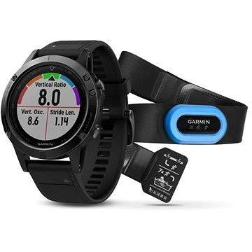 Chytré hodinky Garmin Fenix 5 Sapphire, Black band, Performer Bundle (010-01688-32)