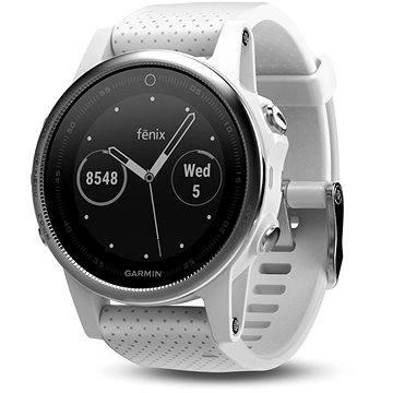 Chytré hodinky Garmin Fenix 5S Silver, White band (010-01685-00)