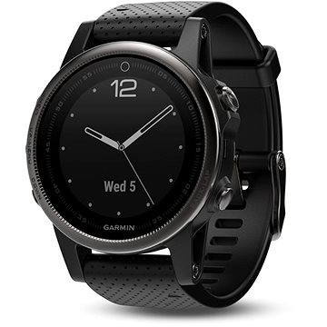 Chytré hodinky Garmin Fenix 5S Sapphire, Grey, Black band (010-01685-11)
