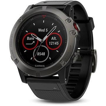 Chytré hodinky Garmin Fenix 5X Sapphire, Grey, Black band (8588006377644)