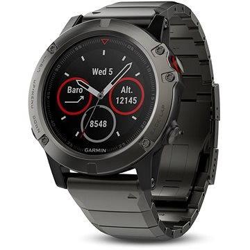 Chytré hodinky Garmin Fenix 5X Sapphire, Grey, Metal band (010-01733-03)