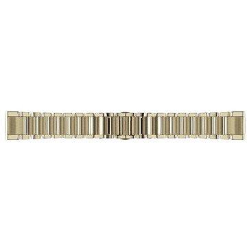 Řemínek Garmin QuickFit 20 kovový Goldstone (010-12491-17)