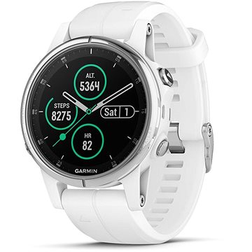 Garmin Fenix 5S Plus Sapphire White Optic Carrera White Band (010-01987-01)