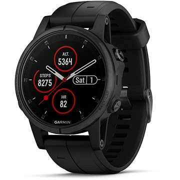 Garmin Fenix 5S Plus Sapphire Black Optic Black Band (010-01987-03)