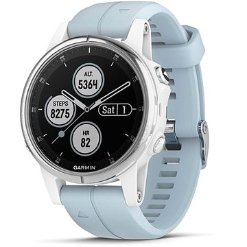 Garmin Fenix 5S Plus White Optic Seafoam Band (010-01987-23)