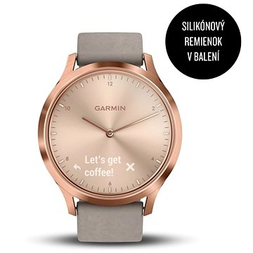 Garmin vívomove HR Premium Rose Gold Gray Suede (010-01850-09)