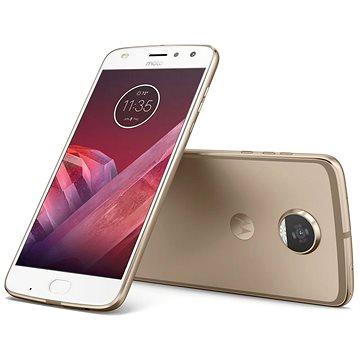 Motorola Moto Z2 Play Fine Gold (SM4488AJ1N6) + ZDARMA Baterie Lenovo Power bank MP1060 - 10000 mAh, Grey Digitální předplatné Interview - SK - Roční od ALZY
