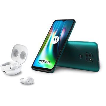 Motorola Moto G9 Play 64GB zelená + Moto Buds (PAKK0028RO)