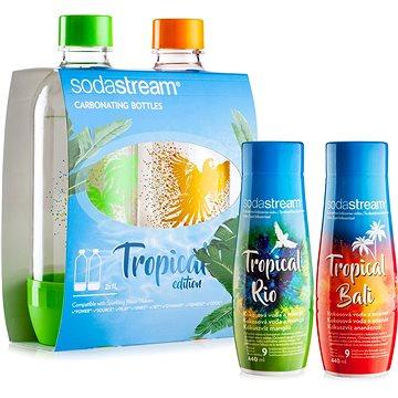 SodaStream Lahve Tropical Edition 2ks Ostrov + Příchutě Ananas-Kokos a Mango-Kokos
