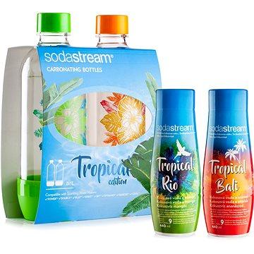 SodaStream Lahve Tropical Edition 2ks Prales + Příchutě Ananas-Kokos a Mango-Kokos (98030820)