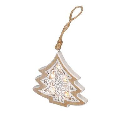 Solight LED vánoční stromek, dřevěný dekor (1V45-T)