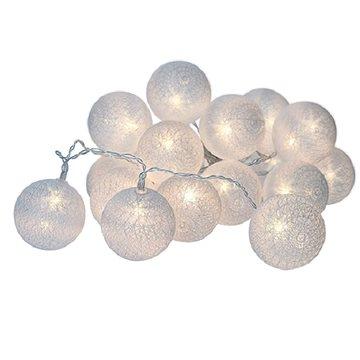Solight LED vánoční koule bavlněné (1V48)