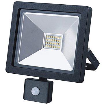 LED venkovní reflektor SLIM, 20W, 1400lm, 3000K, se senzorem, černý (WM-20WS-G)
