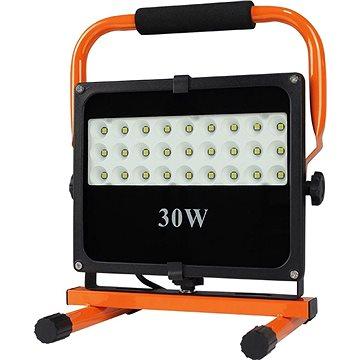 LED venkovní reflektor se stojanem, 30W, 2550lm, 5000K, kabel se zástrčkou, AC 230V (WM-30W-FES)