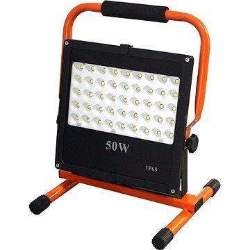 LED venkovní reflektor se stojanem, 50W, 4250lm, kabel se zástrčkou, AC 230V (WM-50W-FES)