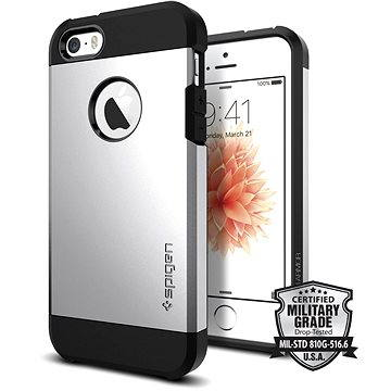 SPIGEN Tough Armor Satin Silver iPhone SE/5s/5 (041CS20251)