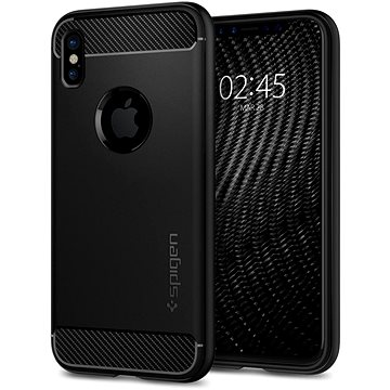 Spigen Rugged Armor Black iPhone X (057CS22125)