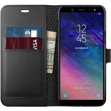 Spigen Wallet S Black Samsung Galaxy A6 (596CS24092)