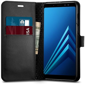 Spigen Wallet S Black Samsung Galaxy A8 (2018) (590CS22756)