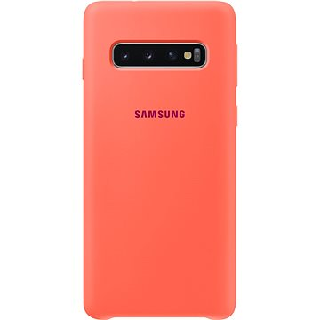 Samsung Galaxy S10 Silicone Cover neonově růžový (EF-PG973THEGWW)