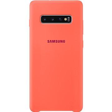 Samsung Galaxy S10+ Silicone Cover neonově růžový (EF-PG975THEGWW)