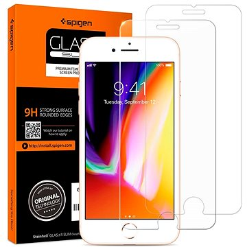 Spigen Glas.tR SLIM 2 Pack iPhone 8/7 (042GL20800)