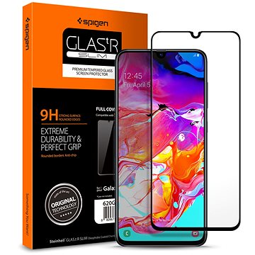 Spigen Glass FC Black Samsung Galaxy A70 (620GL26384)