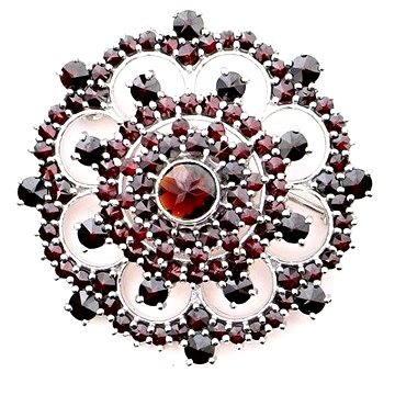 Brož Český granát 15017745001 (925/1000; 10,45 g)