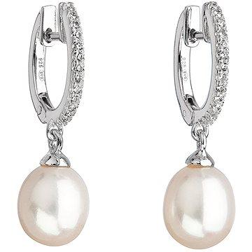 EVOLUTION GROUP Stříbrné visací s říční perlou, dekorované krystaly Swarovski 21002.1 (925/1000, 2 g (8590962210026)