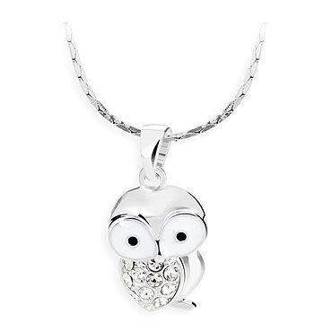 JSB Bijoux Sovička s křišťálovými kameny Swarovski® (bílá) (8592661090039)