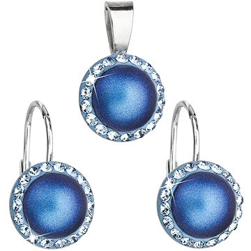 EVOLUTION GROUP 39091.3 světle modrá souprava dekorovaná krystaly Swarovski® (925/1000, 2 g) (8590962394313)