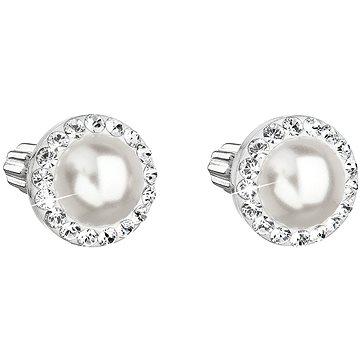 EVOLUTION GROUP 31314.1 bílé s krystaly a perlou Swarovski® (stříbro 925/1000; 1,2 g) (8590962910711)
