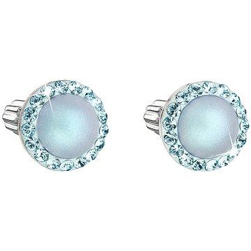 EVOLUTION GROUP 31314.3 světle modré s krystaly a perlou Swarovski® (stříbro 925/1000; 1,2 g) (8590962910735)