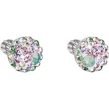 EVOLUTION GROUP 31336.3 růžovo zelené s krystaly Swarovski® (stříbro 925/1000; 1 g) (8590962319781)
